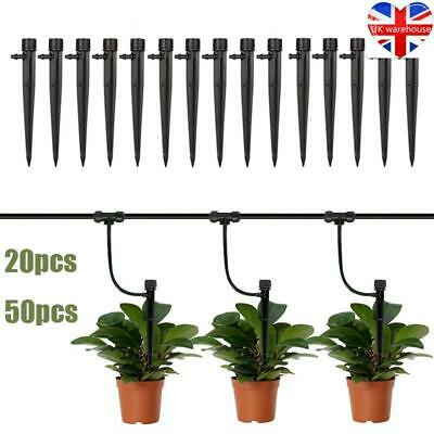 20/50x Micro Drip Irrigation System Kit Drippers 360° Self Watering Garden Hose • 8.42£