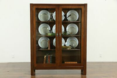 $1495 • Buy Arts & Crafts Mission Oak Antique China Cabinet Or Craftsman Bookcase  #33307