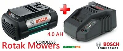 New BOSCH Rotak Cordless Mower BATTERY & CHARGER 316140742085 3165140797481  • 219.97£