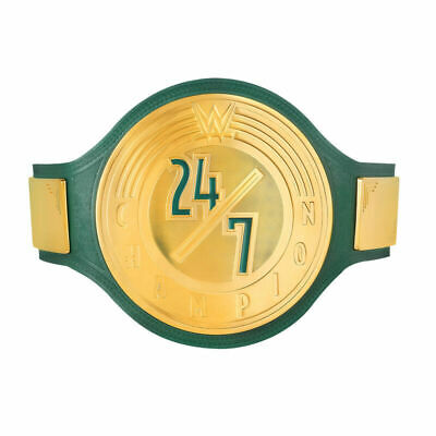 AU249.99 • Buy WWE 24/7 Wrestling Championship Belts Leather Replica Thick Metal Plates Adults