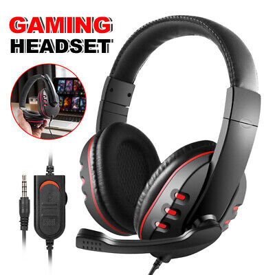 AU33.95 • Buy AU 3.5mm Gaming Headset Headphone Headband With Microphone For PC PS4 XBOX ONE