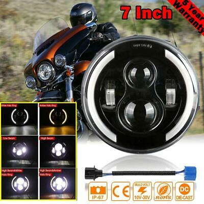 AU37.87 • Buy 7 Inch LED Motorcycle Headlight  Projector For Harley Davidson Trike Softail