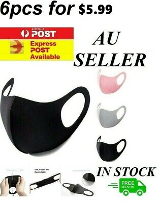 AU8.09 • Buy Unisex Washable Face Mask Mouth Masks Protective Reusable Same Day Dispatch Syd.