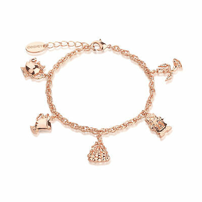 £39 • Buy Disney Couture Kingdom Beauty & The Beast Rose Gold-Plated Characters Bracelet