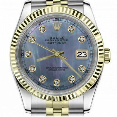 $ CDN6755 • Buy Ladies Vintage Rolex 26mm Datejust Two Tone Tahitian MOP Mother Of Pearl Diamond