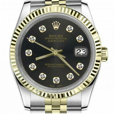 $ CDN6755 • Buy Ladies Vintage Rolex 26mm Datejust Two Tone Chocolate Dial With Diamond Accent