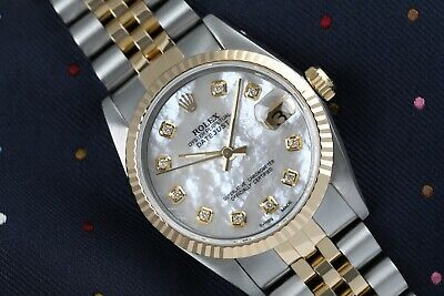 $ CDN9174.87 • Buy Women's Vintage Rolex 31mm Datejust Two Tone White MOP Mother Of Pearl Dial With