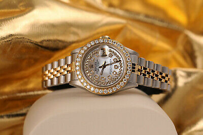 $ CDN7832.48 • Buy Ladies Rolex 26mm Datejust Vintage Diamond Bezel Two Tone White MOP Mother Of Pe