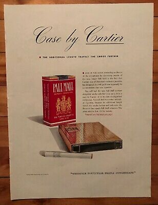 $ CDN12.17 • Buy USA 1940 Cartier | Pall Mall Cigarettes Magazine Vintage Original Print Ad