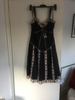 John Rocha Silk Dress Dropped Waist Charlston / Goth 12 • 25£
