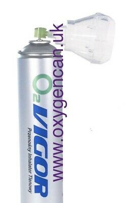 2x PURE OXYGEN CAN 14 L 99% -with A Hygienic Cover Cap-Open & Attach As A Mask • 29.99£