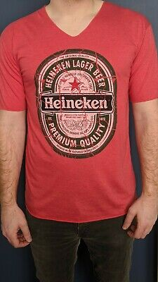 Thailand T-shirt - Salmon Pink Heineken Men's LARGE • 12.99£