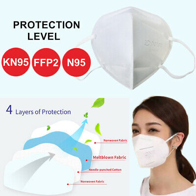 AU15.95 • Buy Reusable KN95 N95 4 Layers Face Mouth Mask Medical Protective Filter Respirator