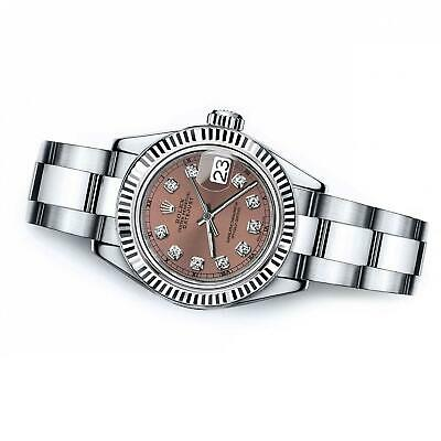 $ CDN9132.45 • Buy Women's Rolex 31mm Datejust Salmon Color Dial With Diamond Accent RT
