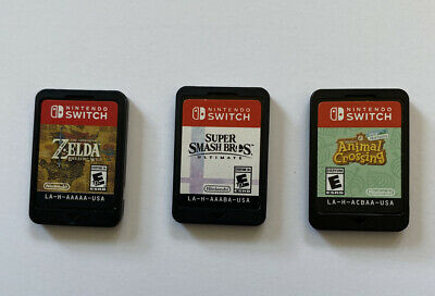 $149.99 • Buy Nintendo Switch Game Lot Of 3 Games Zelda  Smash Bros Animal Crossing