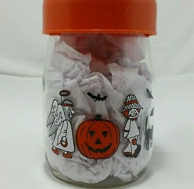 $ CDN21.55 • Buy Carlton Glass Halloween Candy Jar Vintage Canister Container Decor Storage Clear