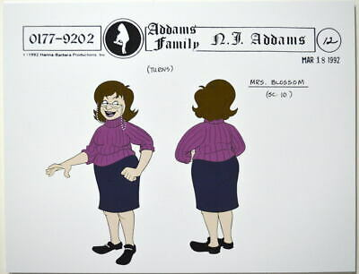 $ CDN17.61 • Buy Addams Family Dead & Breakfast MODEL SHEET - MRS. BLOSSOM HB 1992