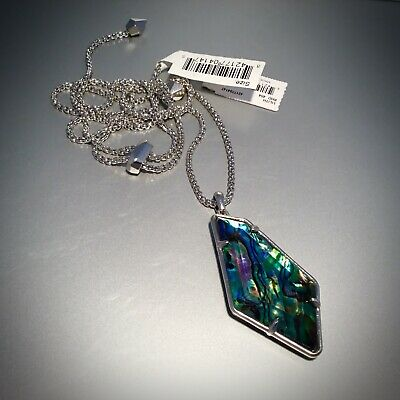 $ CDN94.38 • Buy NIB Kendra Scott Lilith Long Pendant Necklace In Abalone Shell Silver