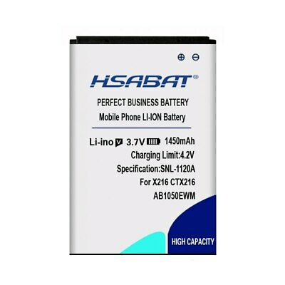 $17.86 • Buy HSABAT 1450mAh AB1050EWM Battery For PHILIPS Xenium X216 CTX216
