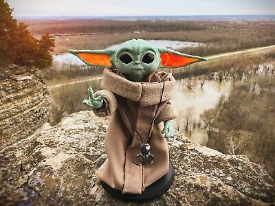 $300 • Buy Baby Yoda Life Size Puppet Poseable Figure Star Wars Mandalorian The Child