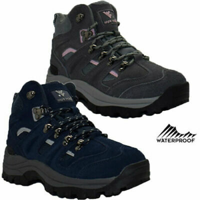 £32.95 • Buy Womens Leather Waterproof Ankle Boots Lightweight Walking Hiking Trail Boots Sz