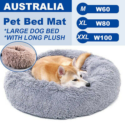 AU39.95 • Buy Pet Dog Cat Calming Bed Round Nest Warm Soft Plush Comfortable Deep Sleeping Mat