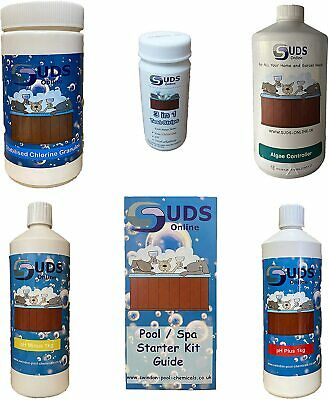 SUDS-ONLINE Swimming Pool Water Treatment Kit Chemical Starter 1KG • 39.95£