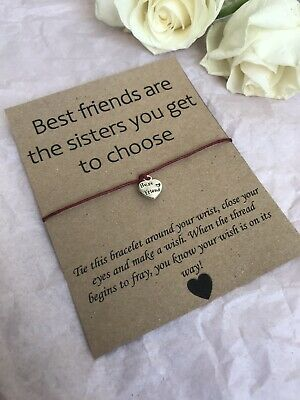 💓 Best Friends Are Sisters Wish Bracelet/anklet Her Love Gift Present💓 • 2.99£