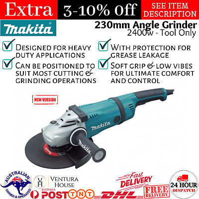 AU305.90 • Buy New Makita Highly Durable 240V 230mm 9  Angle Grinder Steel Concrete Heavy Duty