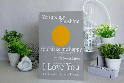 You Are My Sunshine Gift Children's Metal Wall  Plaque Sign • 9.99£
