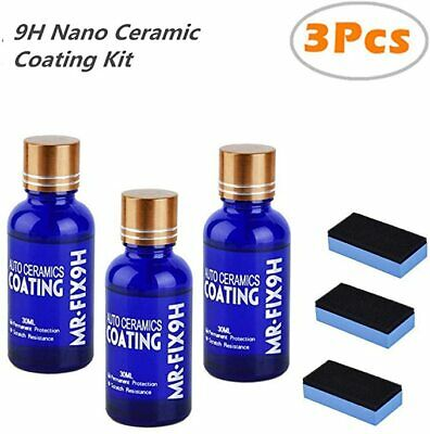 AU21.59 • Buy 3Pcs 9H Anti-scratch Car Liquid Ceramic Coat Hydrophobic Glass Coating Polish