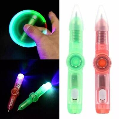 Led Spinning Pen Ball Pen Fidget Spinner Glow In The Dark Mini Kids Pen Gadget • 2.49£