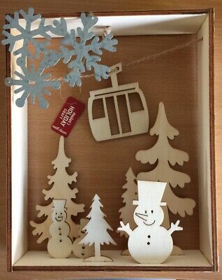 $7.49 • Buy Wood Painting Craft Christmas Wooden Frame Box Paint Decorate Art Wall Decor