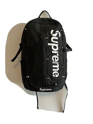 $ CDN381.50 • Buy Supreme SS17 Backpack Black Pre-Owned 100% Authentic