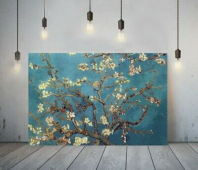 Van Gogh Almond Blossoms-framed Canvas Painting Wall Art Picture Paper Print • 11.99£