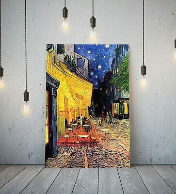 £14.99 • Buy Van Gogh Cafe Terrace Night -framed Canvas Painting Wall Art Picture Paper Print