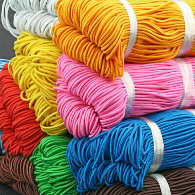 $ CDN4.80 • Buy 25M Round Elastic Cord String Thread 1mm For DIY Jewelry Making 10 Colors