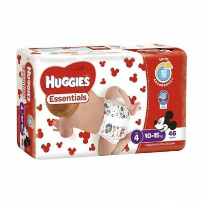 AU99.90 • Buy New Huggies Essentials Nappies - Disney Designs Size 2, Carton (54 X 4 Pack)