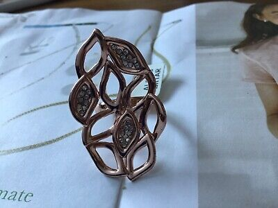 $95 • Buy Alexis Bittat Rose Gold Large Flower Cocktail Ring Size 6 🎁❤️