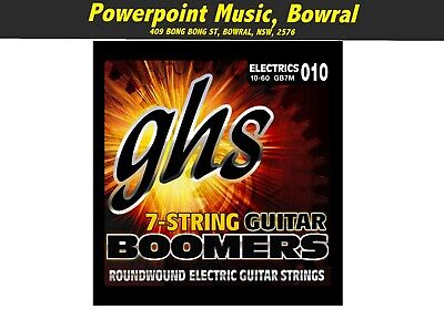 AU15.99 • Buy GHS GB7M Boomers 7-String Medium 10 - 60 Electric Guitar Strings *Brand New!