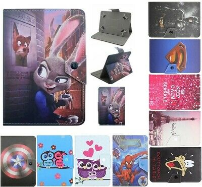 AU8.90 • Buy Universal Cartoon Case PU Leather Cover For Samsung Galaxy 7 Inch Tab Tablet PC