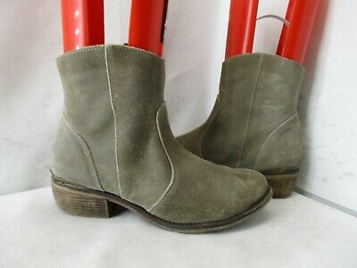 $26.95 • Buy Mtng Originals Taupe Suede Leather Zip Ankle Boots Womens Size 8