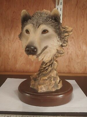 $150 • Buy MILL CREEK STUDIOS # 4103  BEFORE THE CHASE   WOLF  Sculpture (shelf5)