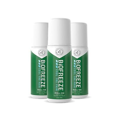 Biofreeze Pain Relieving Roll On, 3-Ounce (Pack Of 3) Pack Of 3 • 26.36£
