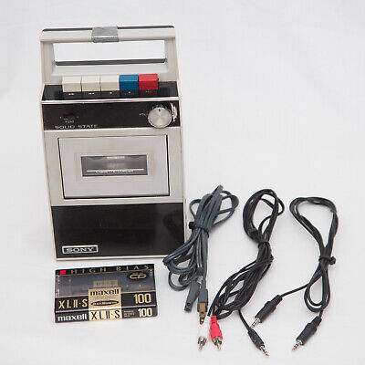 $79.99 • Buy Vintage Sony Tapecorder TC-18 With Cables And Blank Cassette Media Tested