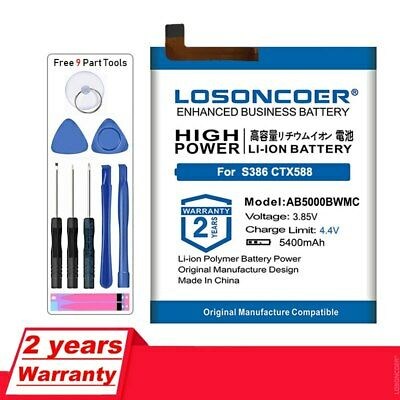 $26.55 • Buy LOSONCOER 5400mAh AB5000BWMC Replacement Batteries For Philips XENIUM S386 X588