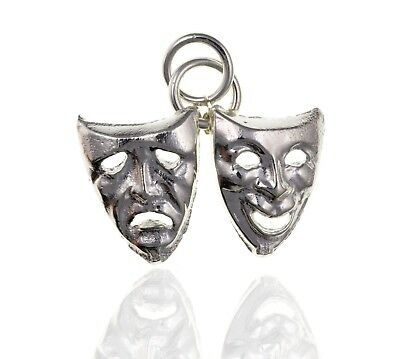 £16.99 • Buy 925 Sterling Silver Comedy Tragedy Theatre Mask Charm.