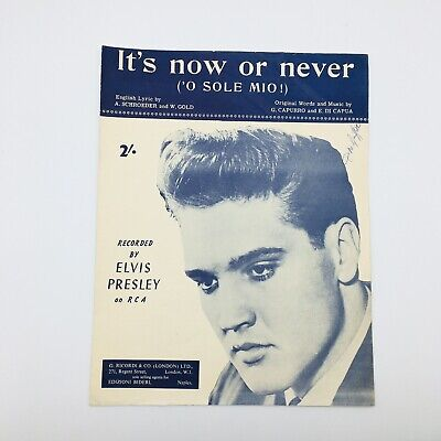 £9.95 • Buy It's Now Or Never ( 'O Sole Mio! ) Sheet Music Elvis Presley 1960