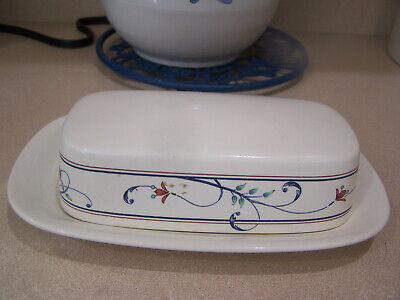 $35 • Buy Mikasa Annette Covered Butter Dish