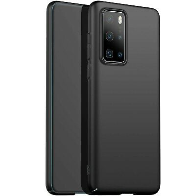 For Huawei P40 Pro Case Slim Soft Silicone Gel Cover - Matte Black • 3.49£